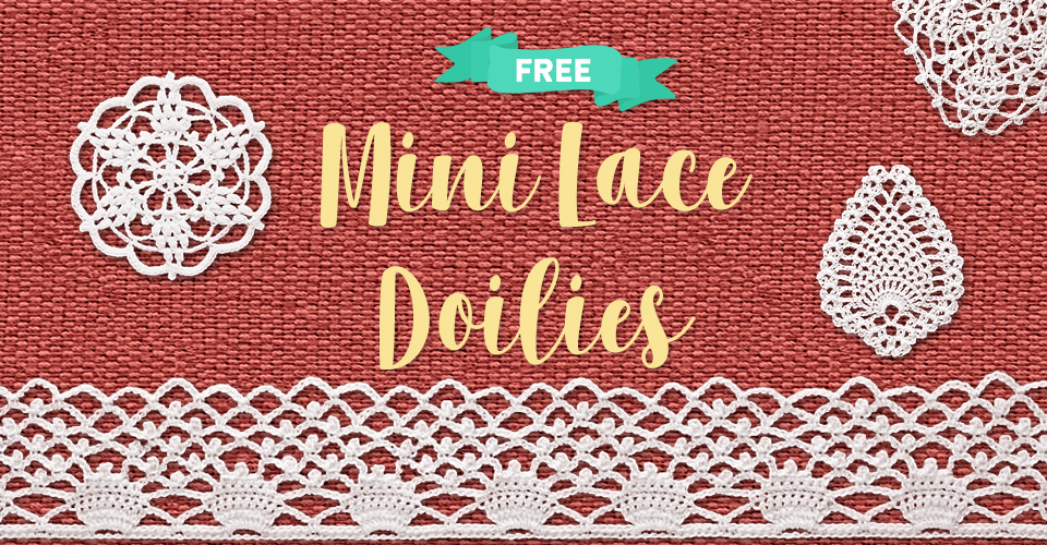 Mini Lace Doilies Clip Art