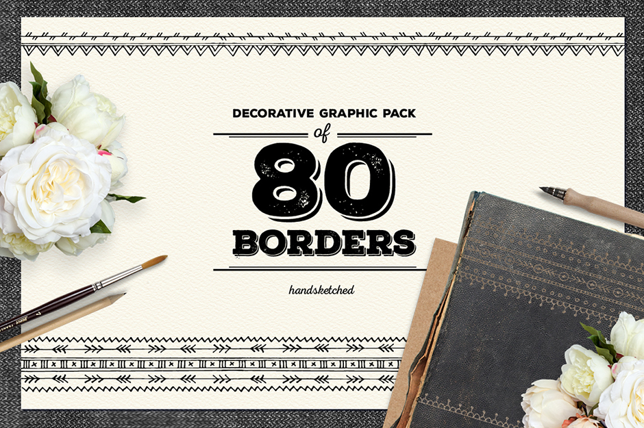 80 Free Borders from Design Cuts