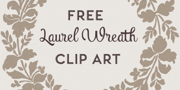 Free Laurel Wreath Silhouette Clip Art