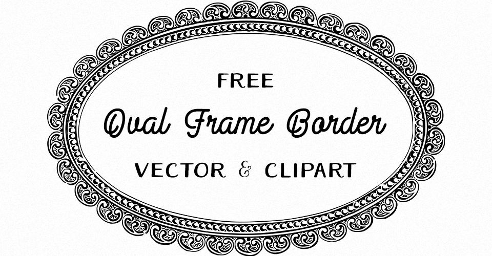 Fancy Oval Frame Vector & Clipart
