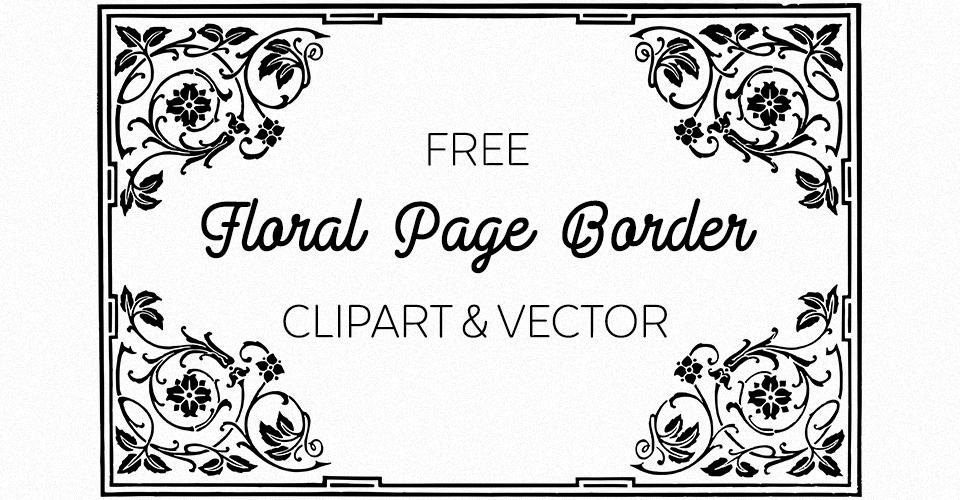 Free Floral Vector Frame Border