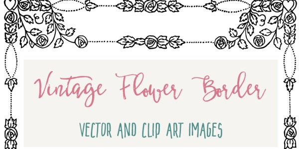 Lovely Vector Flower Border