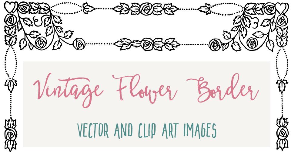 Lovely Vector Flower Border