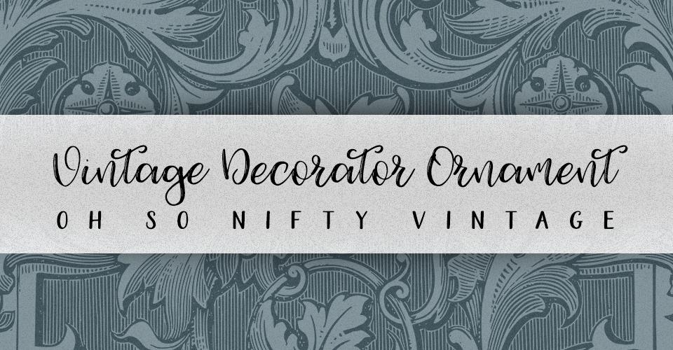 Vintage Flourish Decoration