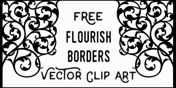 Flourish Border Vector Image