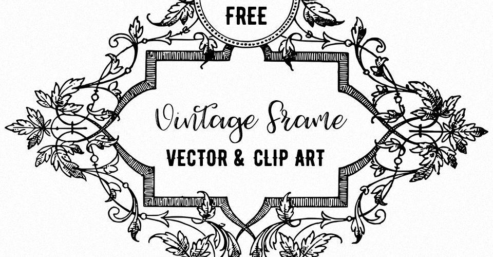 Vine Border Frame Vector Illustration   Oh So Nifty Vintage Graphics