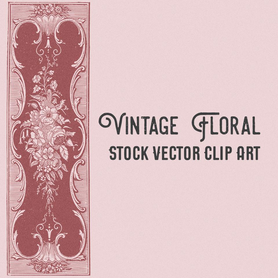 Vintage Floral Stock Vector Clip Art