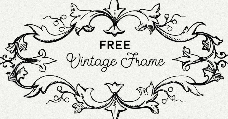 Rustic Vintage Label Frame Vector Image | Oh So Nifty Vintage Graphics