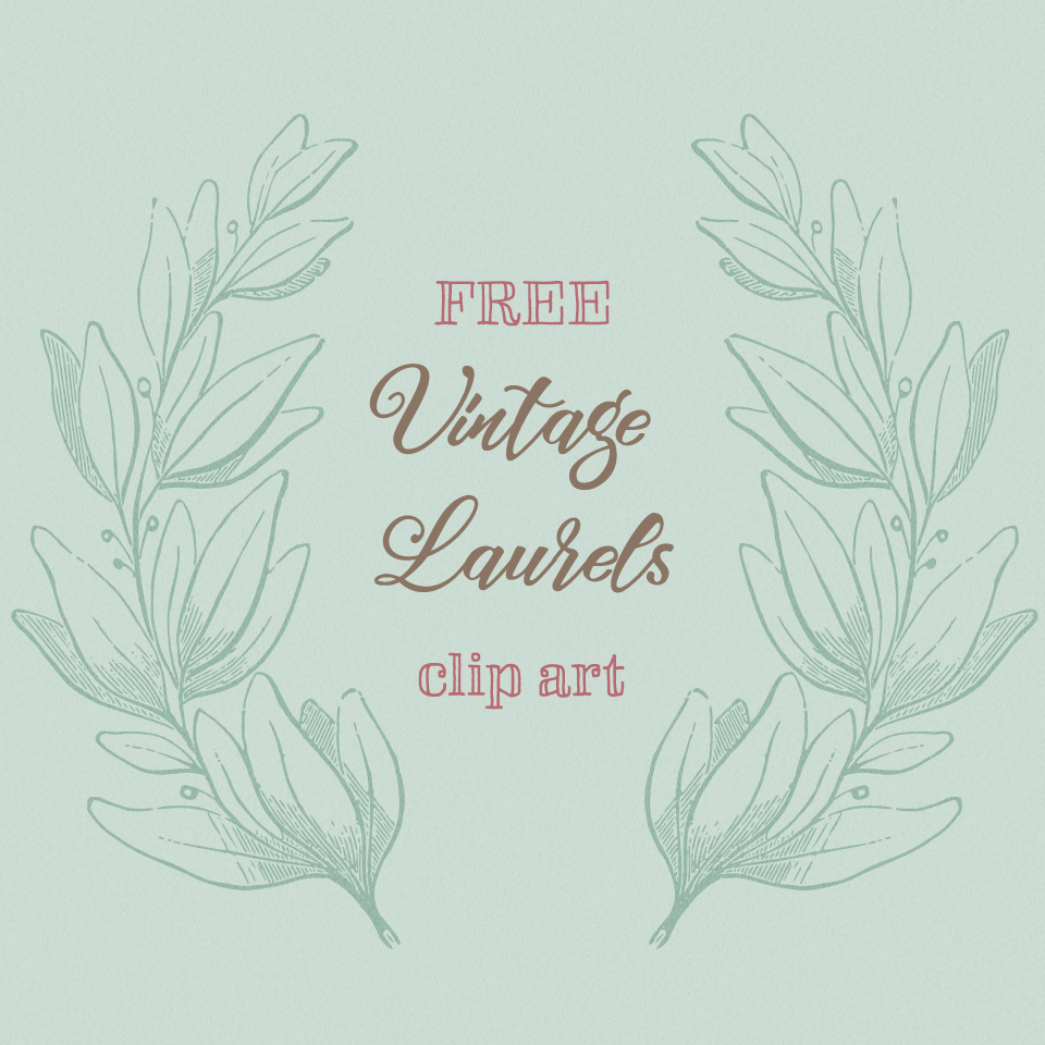 Sweet Vintage Laurels Vector Image