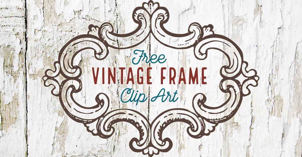 Curvy Rustic Frame Vector Clip Art