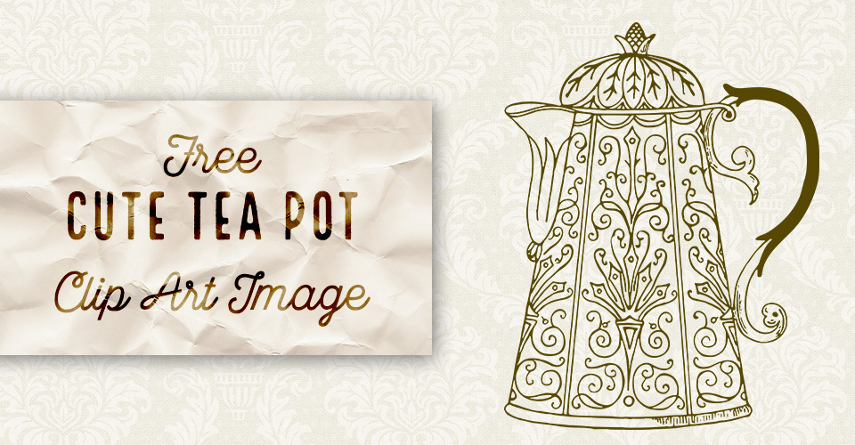 Cute Vintage Tea Pot Image
