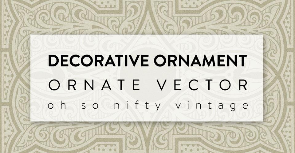Gorgeous Decorative Ornament Ornate Vector