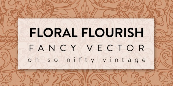Floral Flourish Fancy Vector Clip Art