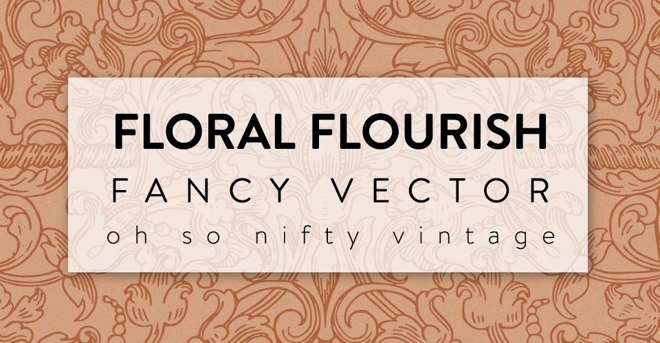 Floral Flourish Fancy Vector Clip Art