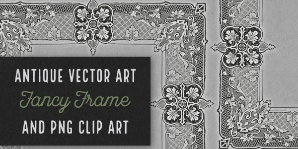 Fancy Frame Antique Vector Clip Art