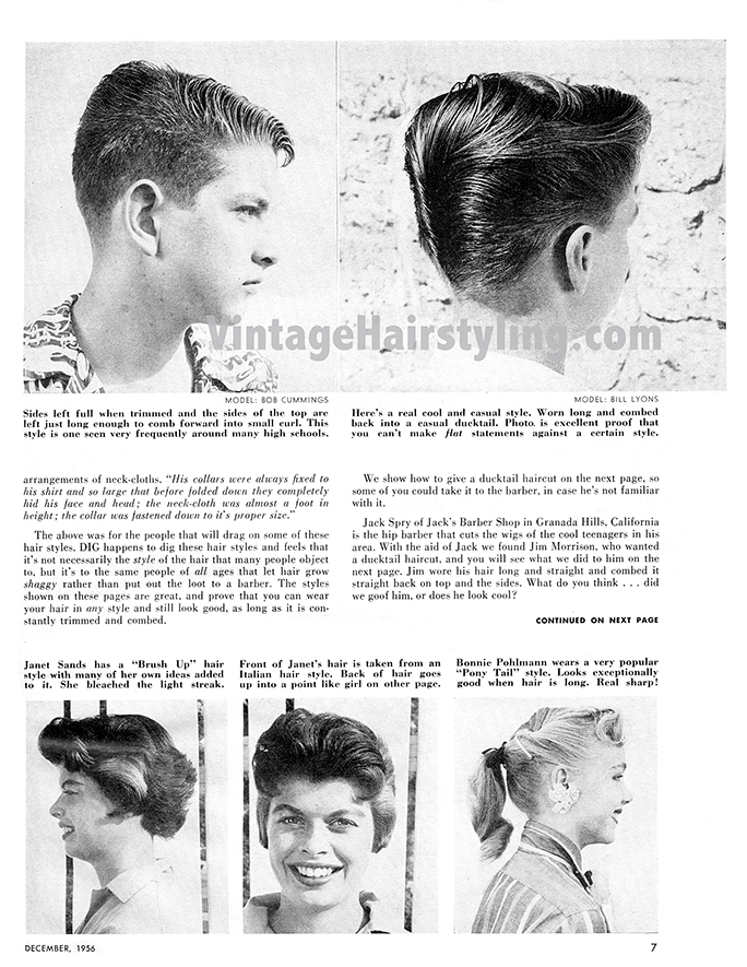 Flat Top Boogie : boogie, Men's, Vintage, 1950s, Haircuts, Ducktail, Tutorial, More!, Bobby, Makeup, Tutorials