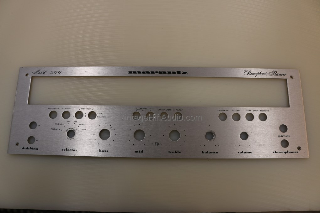 Marantz 2270 faceplate. Lot 1