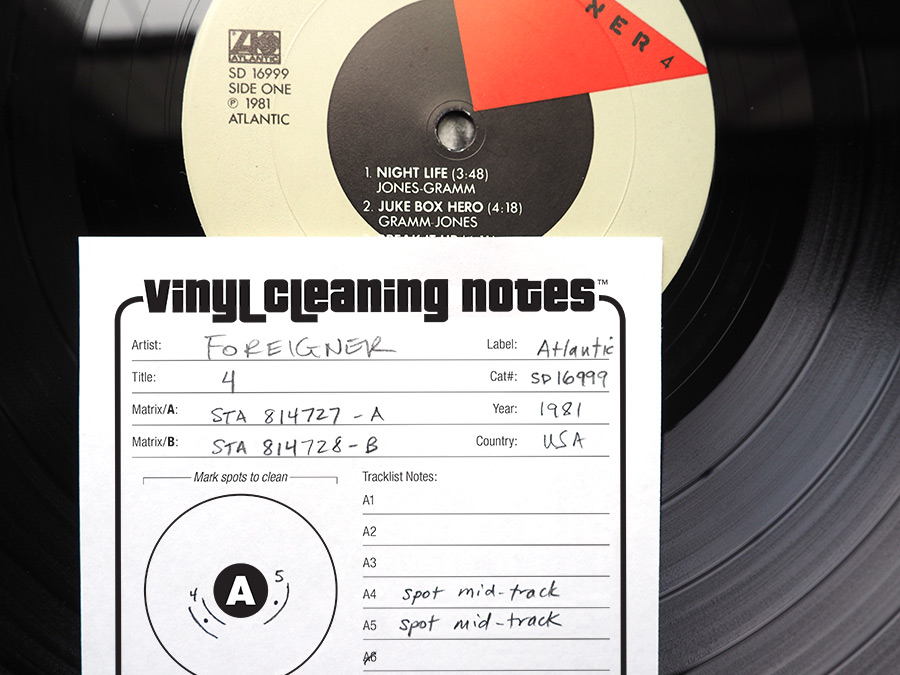 Vinyl Cleaning Notes
