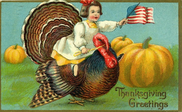 Vintage Thanksgiving greeting card, from HubPages
