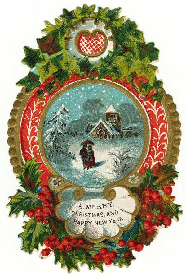 free clip art vintage holiday