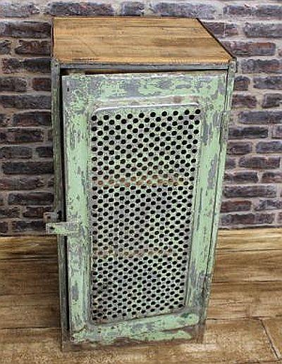 Industrial Locker With Vented Door In An Original Shabby