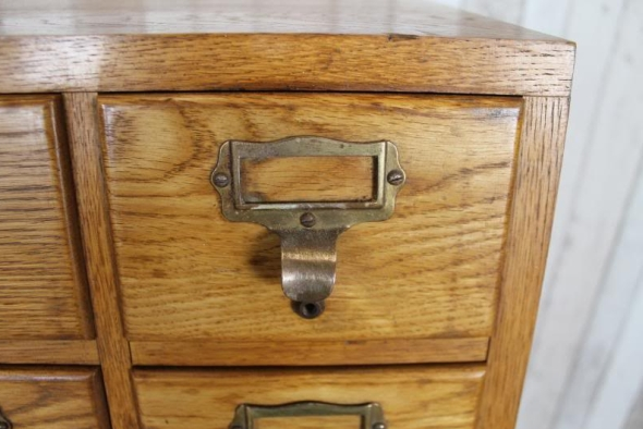 VINTAGE RETRO SOLID OAK FILING CABINET LIBRACO INDEX CABINET