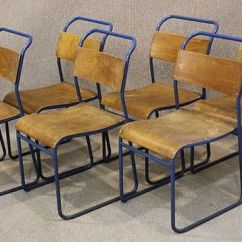 Used Restaurant Chairs For Sale Wheelchair Motors Steel Stacking Chairs, Original Tubular With Plywood Seat And...