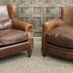 Vintage Arm Chair Hi Boy Beach With Canopy A Style Leather Armchair Brown Aged Armchairs