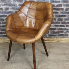 Leather Armchair Metal Frame Butterfly Chair Cover Sewing Pattern Vintage Style Tan Bucket