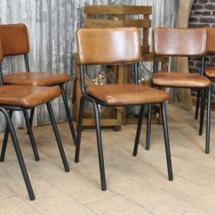 Industrial Style Dining Chairs Chair Design Buy Vintage Leather Chelmsford