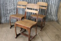 VINTAGE STYLE CHAIRS COPPER FRAMED ETON 1950s