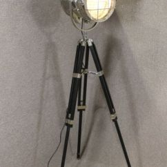 Retro Chrome Chairs Traditional Kitchen Table And Vintage Style Spotlight Floor Lamp