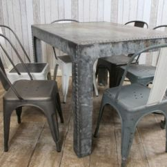Retro Metal Patio Chairs Foam Cushion Inserts For Dining Table Converted Vintage Water Tank