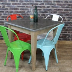 1950s Formica Kitchen Table And Chairs Metal Cart Square Stone Top Cafe Restaurant Tables - Vintage ...