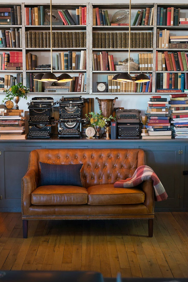 VintageInspired Home Libraries to Envy