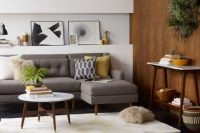 Enlivening mid-century modern living rooms