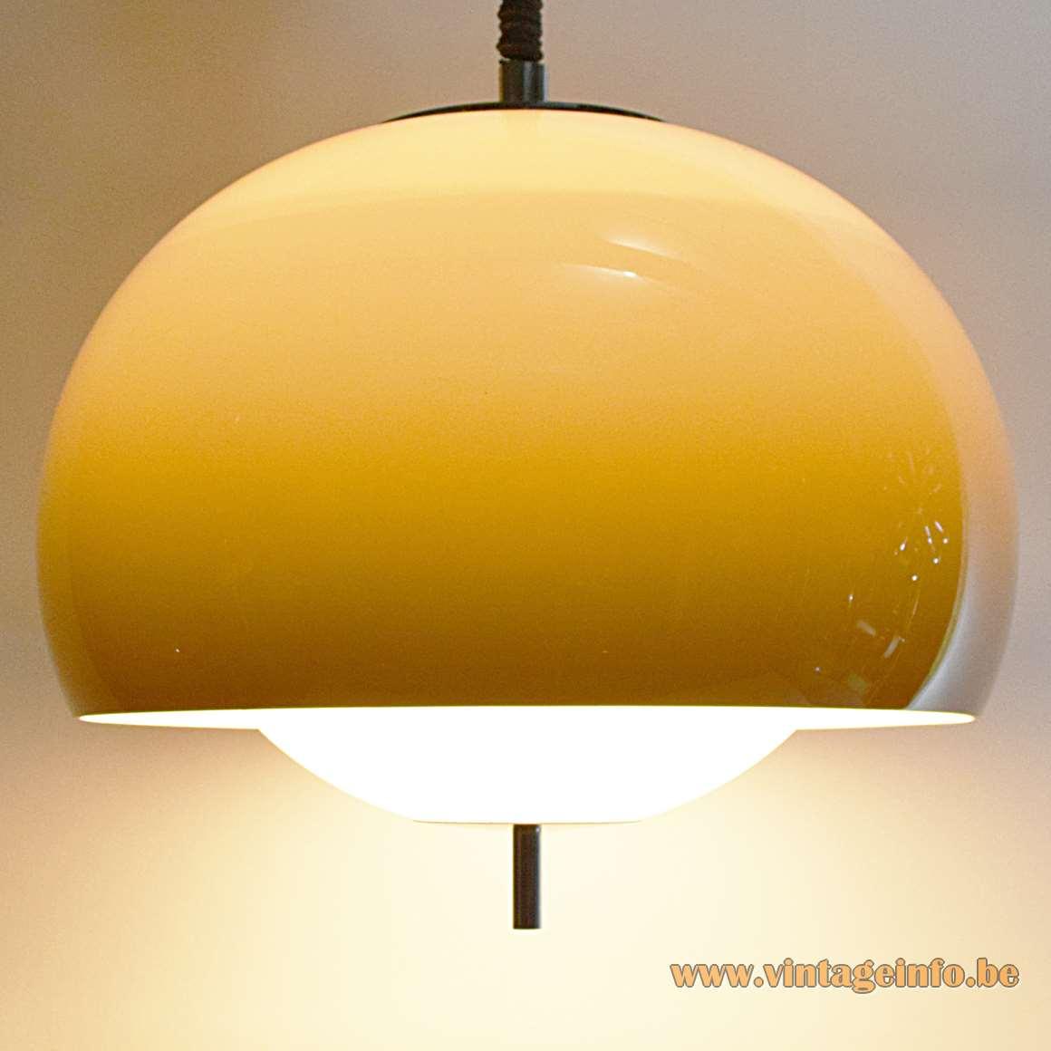 Harvey Guzzini Burgos Pendant Lamp Vintage Info  All