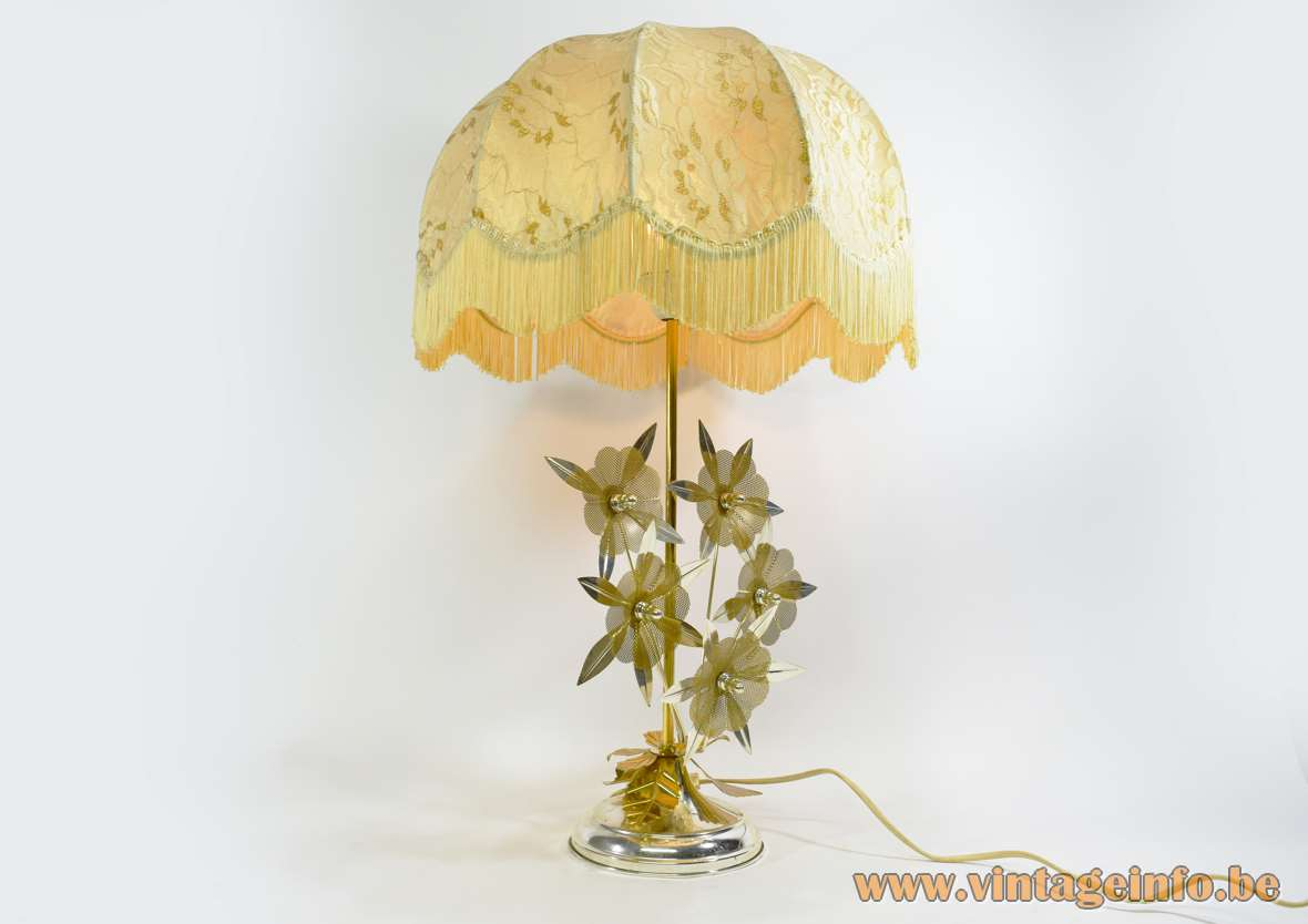 Flower Kitsch Table Lamp Vintage Info  All About Vintage