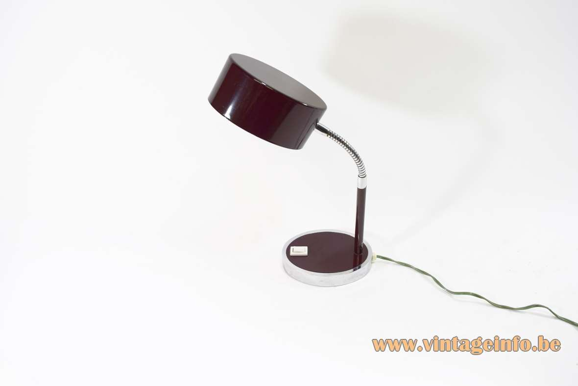 Purple Brown Italian Desk Lamp Vintage Info  All About