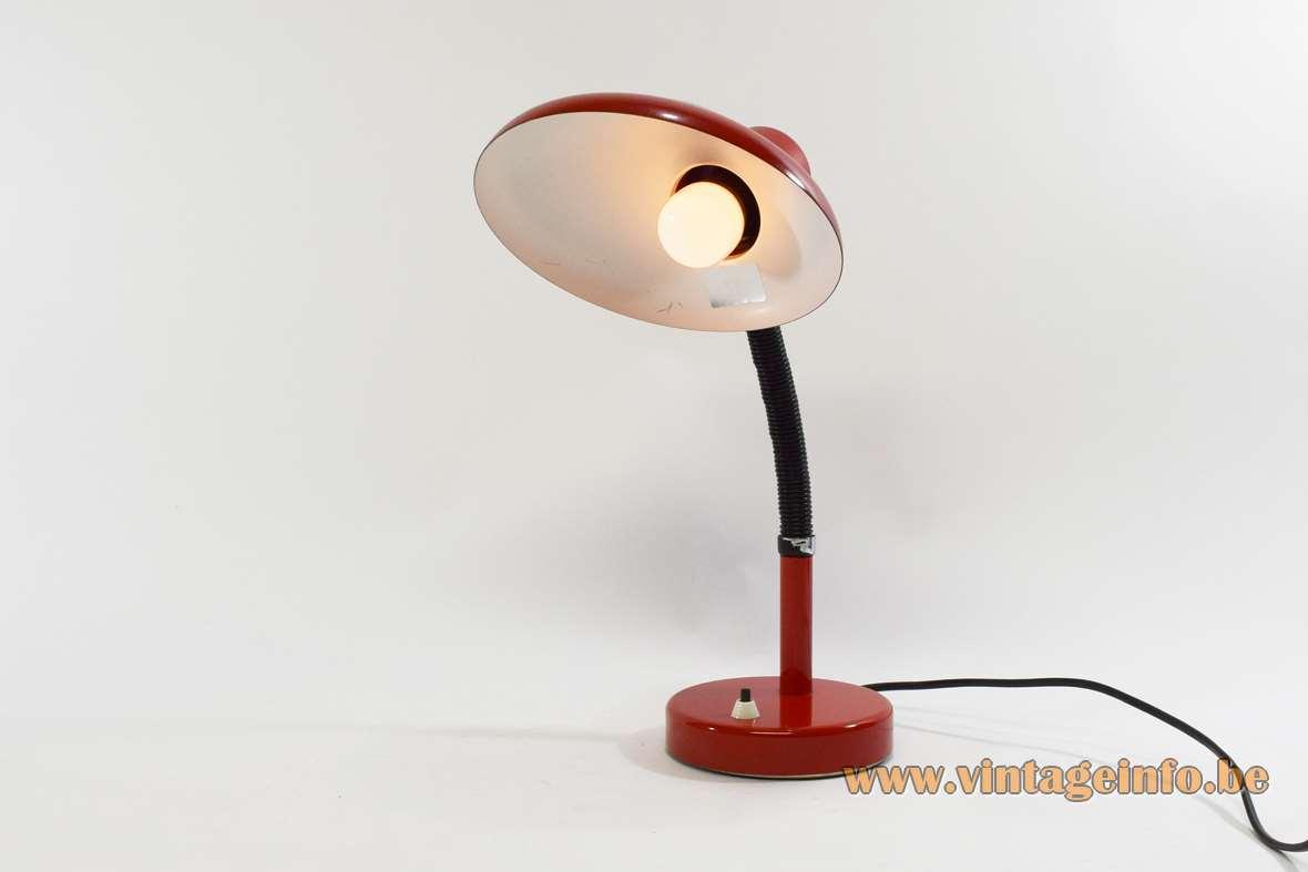 Red 1970s Desk Lamp Vintage Info  All About Vintage Lighting