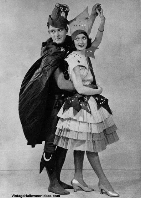 1920's Actors in Halloween Costumes