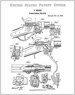 Firearm Patent Drawing Prints