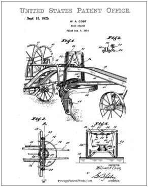 Heavy Construction Patent Drawing Prints