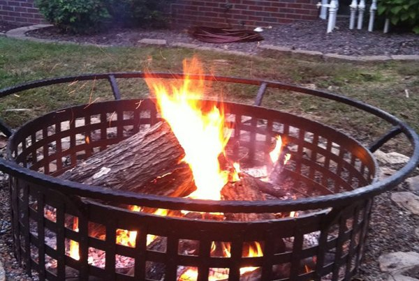 Fire Pit Open Cage Style