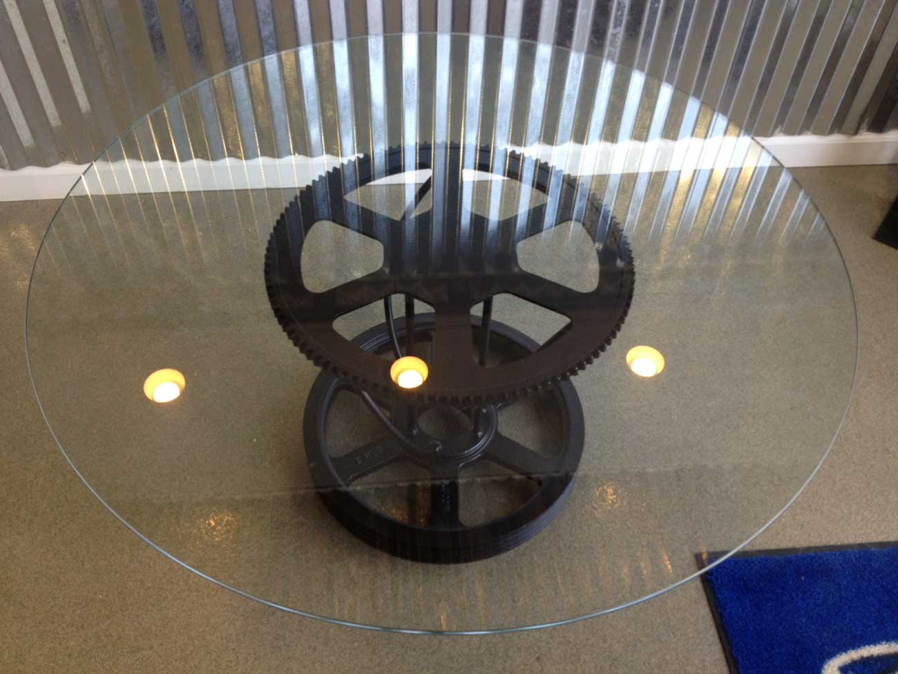 glass and gear coffee table