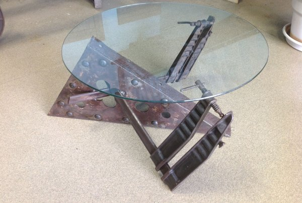 glass top coffee table