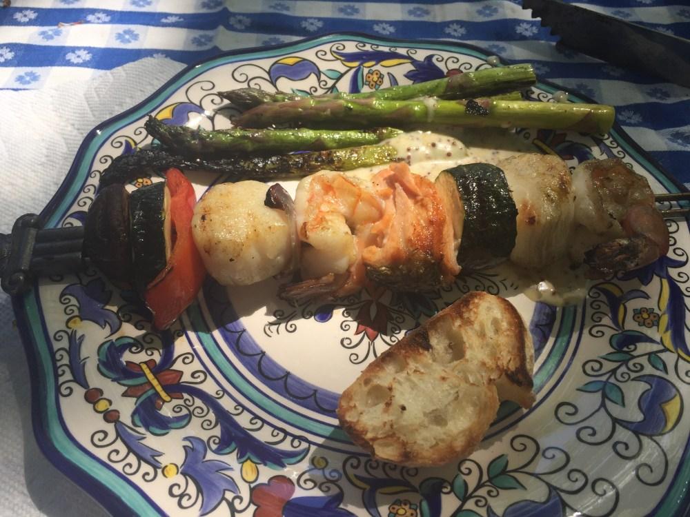 plated kebabs