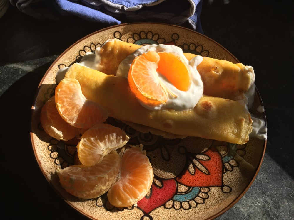 orange crepes