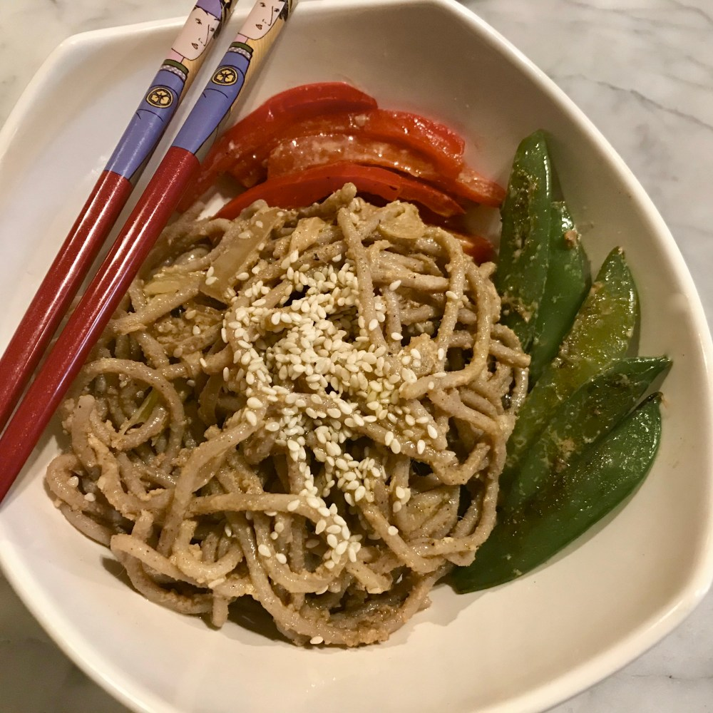 simple bowl of sesame noodles