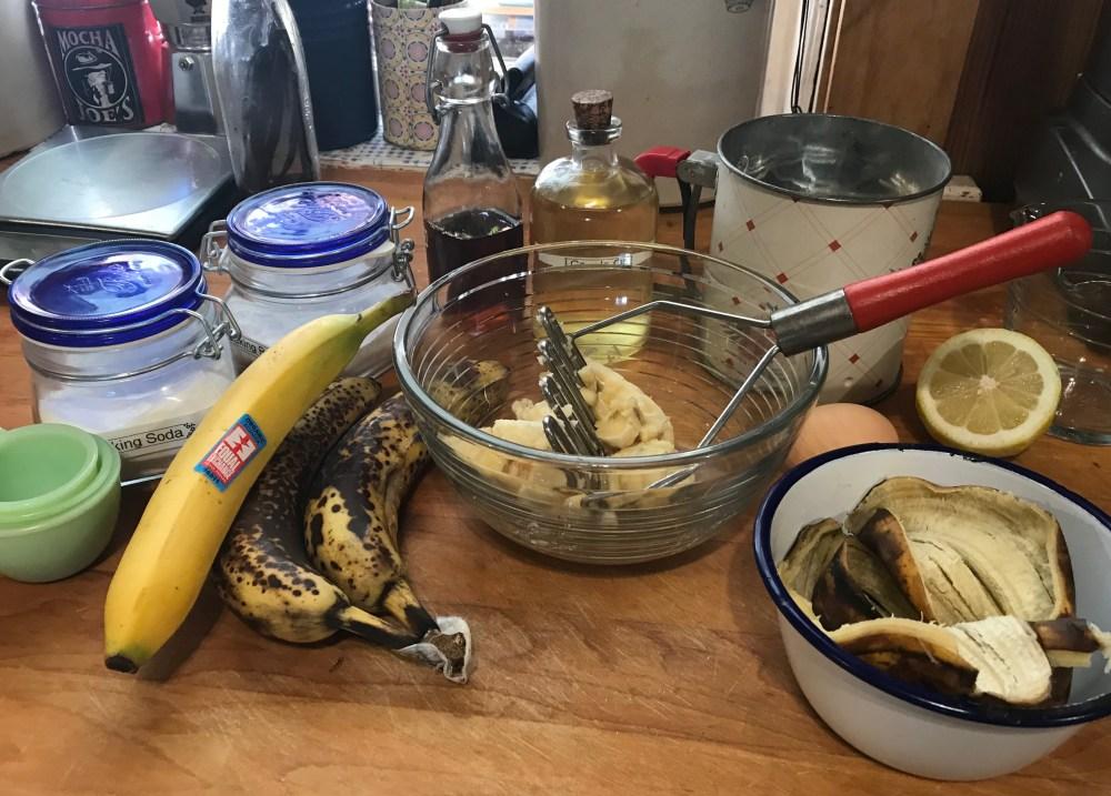 Ready to make banana muffins